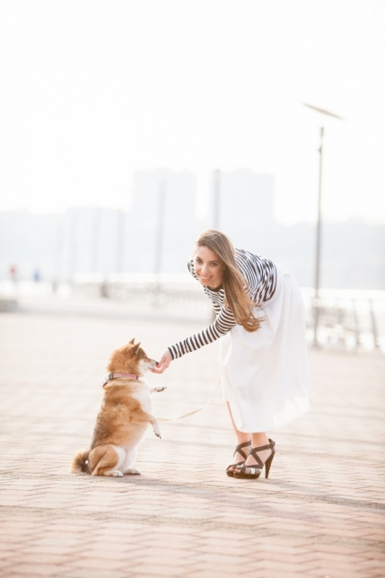 My girl Olive & me on the pier. Thanks to Ilene Squires for capturing this!